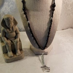 Other - Men or women Maat feather /eye of ra necklace